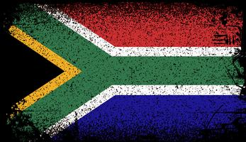 Südafrika Grunge Flagge. Vektor Hintergrund Illustration