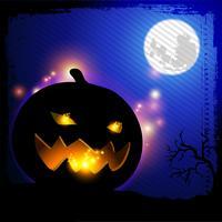 Halloween pumpa huvud belysning vektor