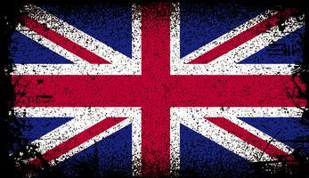 Großbritannien Grunge Flagge. Vektor Hintergrund Illustration
