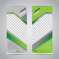 Grünes Schwarzes rollen oben Fahnen-Schablonen-Spott oben vektor