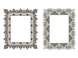 quadratischer eleganter Rahmen. Vektor-Illustration.