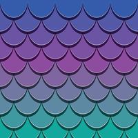 Meerjungfrau Schwanz Muster. Papier schnitt Hauthintergrund der Fische 3d heraus. Helle Spektralfarben.