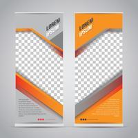Orange Schwarzes rollen oben Fahnen-Schablonen-Spott oben vektor