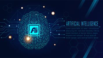 Futuristisches AI-Gehirnkonzept