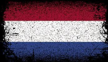 Netherland Grunge flagga vektor