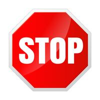 Stoppskyltikon Meddelanden som inte gör något. vektor