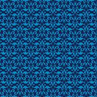 eleganter blauer nahtloser Damasthintergrund