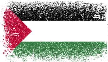 palestin Grunge flagga vektor