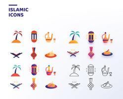 Islamiska ikoner vektor pack