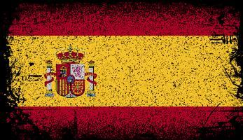 Spanien Grunge Flagge. Vektor Hintergrund Illustration