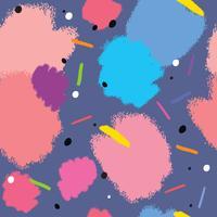 Abstrakt färgrik målning sömlös mönster vektor.