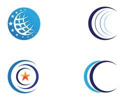Draht-Weltikone Logo Template-Vektorillustration