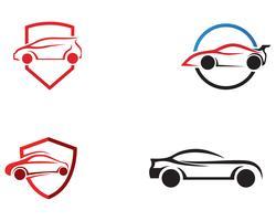 Selbstauto Logo Template-Vektorikone