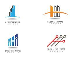 Finansföretagslogotyp och symbolvektor