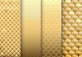 uppsättning av guldtexturer bakgrunder vektor