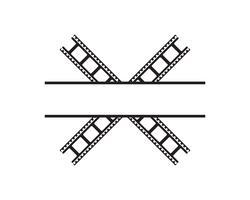 abstraktes Filmikonenvektorillustrations-Schablonendesign vektor