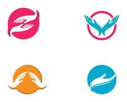 Handpflege Logo Template-Vektorikone Geschäft vektor