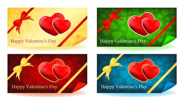 Två hjärtor - Alla hjärtans dagskort vektor