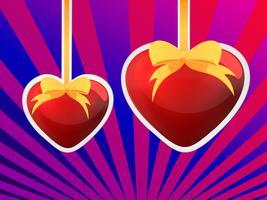 Zwei Herzen - Valentinstag vektor