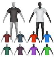 Enkel polo shirt på mannequin torso mall vektor