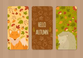 Niedliche Tier-Herbst-Gruß-Karte vektor