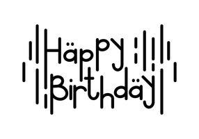 Alles Gute zum Geburtstag Typografie