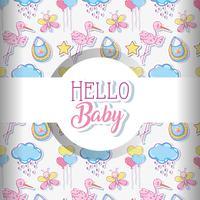 Baby Liebe Muster Hintergrund