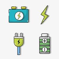 Elektroautobatterie und Energieaufladetechnik einstellen