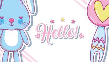 Hallo Baby-Geburtskarte vektor