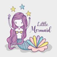Kleine Meerjungfrau Kunst Cartoon vektor