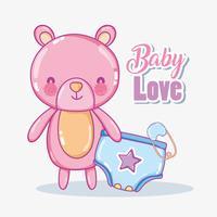 Baby kärlekskort vektor