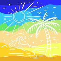 sommar färgglad bakgrund vektor