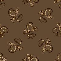 Logo design för en kaffepaus. Text. handgjord ritning. Vektor.