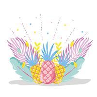 Punchy Pastell Ananas vektor