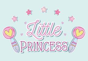 Kleine Prinzessin süße Cartoons vektor