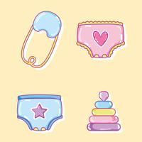 Baby-Cartoons-Auflistung vektor
