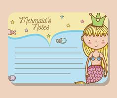 mermaids utskriftsblad vektor