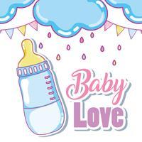 Baby Liebe süße Karte vektor