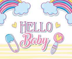 Hallo Baby-Karte