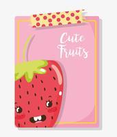Gulliga frukter tecknade