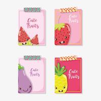 Cue frukter kortteckningar