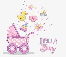Hallo Baby-Karte vektor