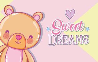 Süße Träume Nachricht vektor