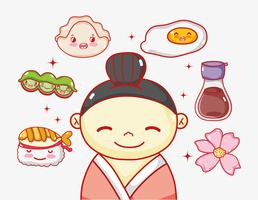 Japaner in Liebe zum Essen
