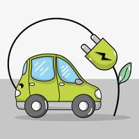 Elektroauto mit Ökologie-Stromkabel-Technologie
