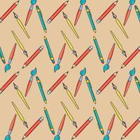 Schulutensilien zu wrating und malen Hintergrund vektor