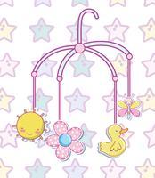 Cartoons mit Babyspielzeug