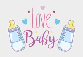Liebe Babykarte vektor