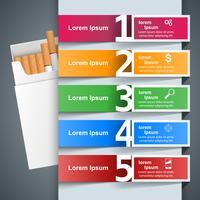 Skadlig cigarett, viper, rök, företagsinfographics.