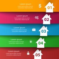Hus abstrakt 3d ikon. Business infographic.